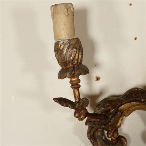 applique in legno applique legno dorato illuminazione bottega 900