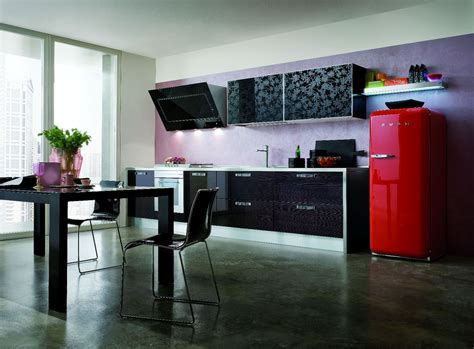 cuisine avec frigo smeg cuisine avec frigo noir chaios com
