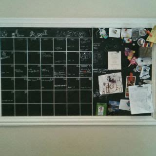 diy magnetic calendar of sheet metal primed painted with chalkboard paint and the lines