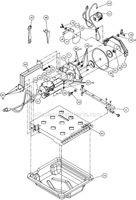 mk 170 tile saw manual mk mk 170 parts list and diagram