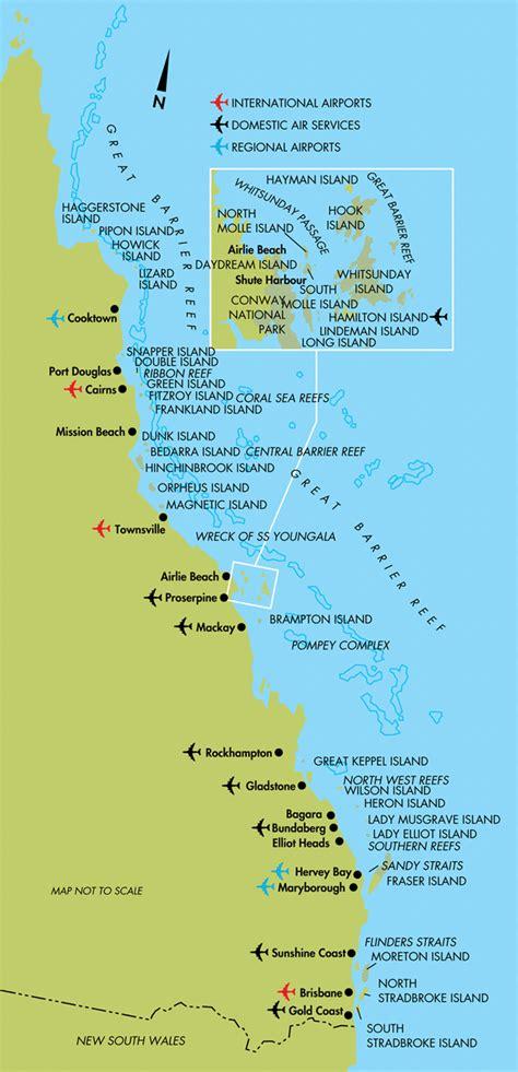 cairns  queensland coast map cairns australia