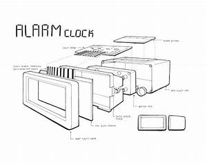 Exploded View Alarm Clock On Behance