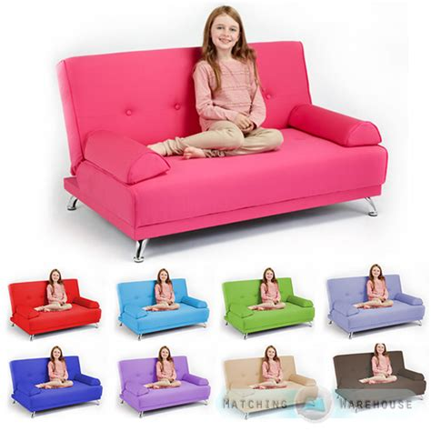 childrens cotton twill clic clac sofa bed with armrests futon sofabed guest ebay