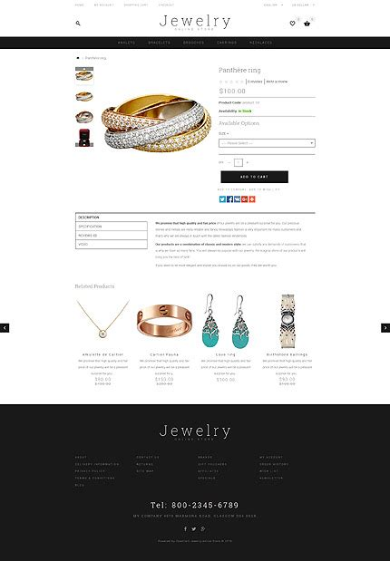 download tpl templates jewelry type opencart templates template 55818