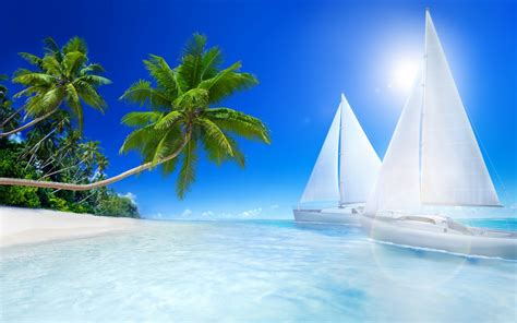 tropical beache wallpapers hd wallpapers id
