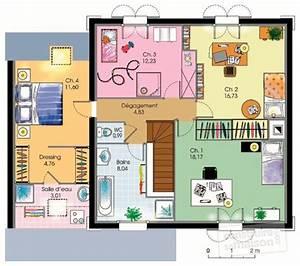 Plan Maison A Etage : maison de ville d tail du plan de maison de ville faire construire sa maison ~ Melissatoandfro.com Idées de Décoration