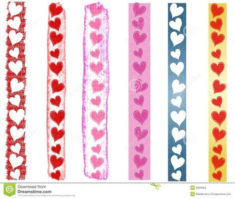 Various Valentine's Day Heart Borders 2 Stock Illustration ...