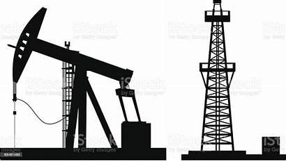 Oil Pump Vector Rig Clip Illustrations Illustration