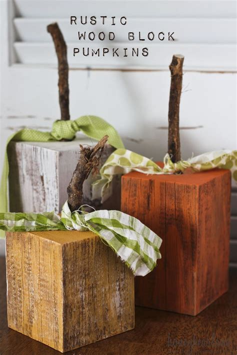 rustic wood pumpkins   fall ideas fall wood