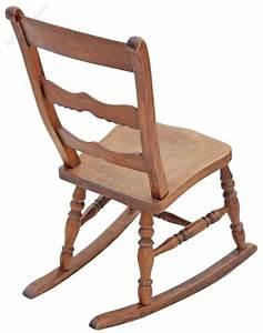 Edwardian Elm Beech Rocking Chair Rustic Charm - Antiques ...