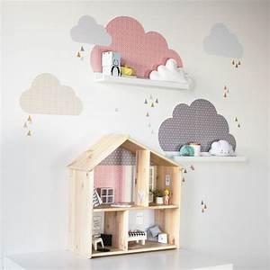 ikea hack gleich 2x passend im kinderzimmer wolken With markise balkon mit tapete rosa kinderzimmer