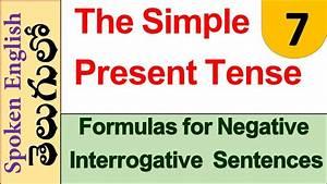 Formulas For Negative Interrogative Sentences In The Simple Present Tense Telugu