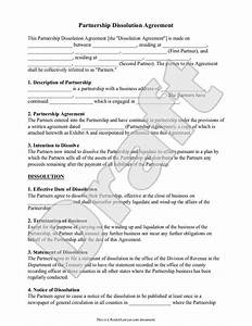 partnership dissolution agreement form with sample With antenuptial contract template