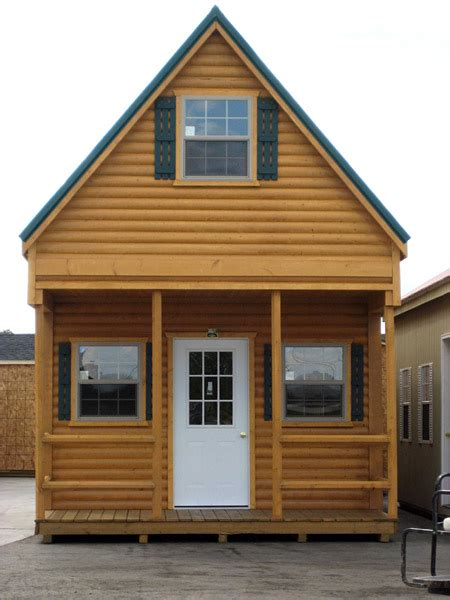 Small Two Story Cabin Plans by The Amish Cabins