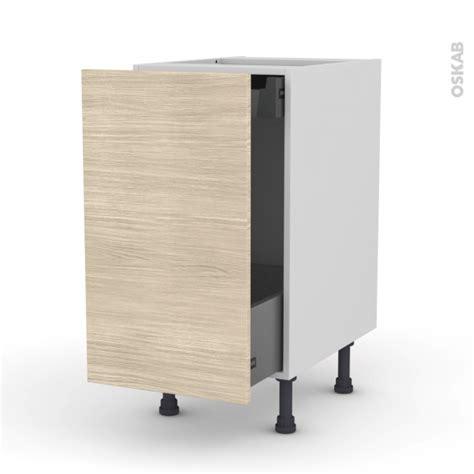 meuble cuisine tiroir coulissant meuble de cuisine bas coulissant stilo noyer blanchi 1 porte 1 tiroir à l 39 anglaise l40 x h70 x