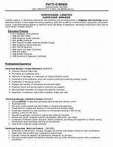patti resume manager With moving company resume