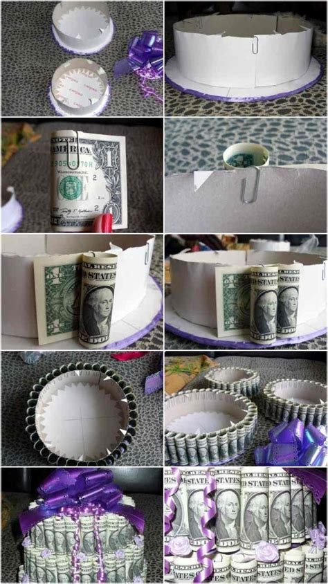 idees de cadeaux  deco mariage avec billets de banque