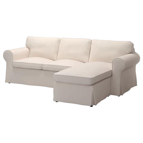 Ektorp Twoseat Sofa And Chaise Longue Lofallet Beige Ikea