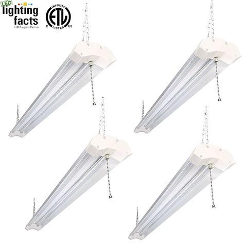 4ft led light fixture hykolity 4ft 40w led shop garage hanging light fixture