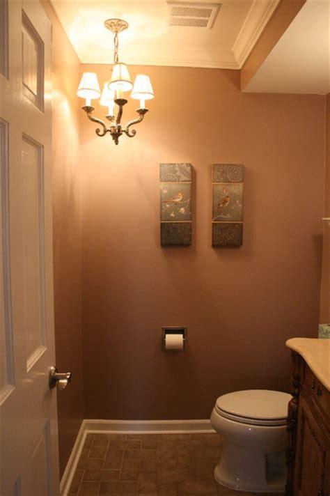 bath  chandelier traditional powder room