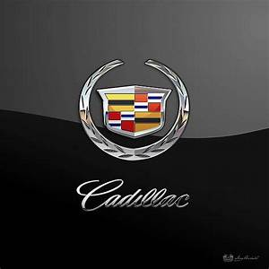 Cadillac 3D Badge-Logo on Black fine art print by C.7 ...