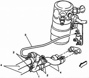 Cooling Lines Diagram  V8 Two Wheel Drive Automatic