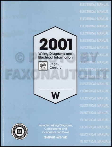 2001 Buick Century Manual by 2001 Buick Regal And Century Wiring Diagram Manual Original
