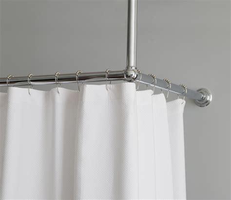 L Shaped Drapery Rod - shower curtain rail l shape rail balineum