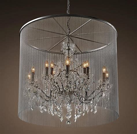 Glass Chain Chandelier by Pandora Hanging Metallic Chains Chandelier