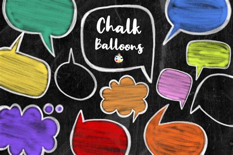 chalk board word bubbles speech clipart  prawny