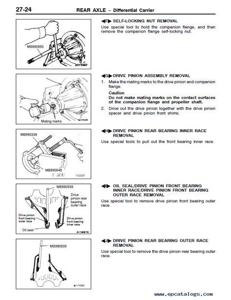 service and repair manuals 1993 mitsubishi pajero spare parts catalogs mitsubishi challenger montero pajero workshop manual pdf download