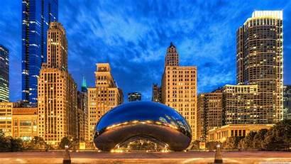 Cloud Chicago Gate Illinois States United Uhd