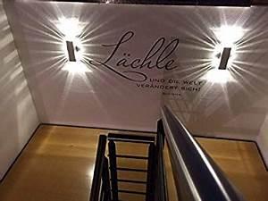 Lampen Für Treppenhaus : spiceled wandleuchte shineled 6 2x3w warmwei mit schalter wandlampe leuchte led effekt ~ Markanthonyermac.com Haus und Dekorationen