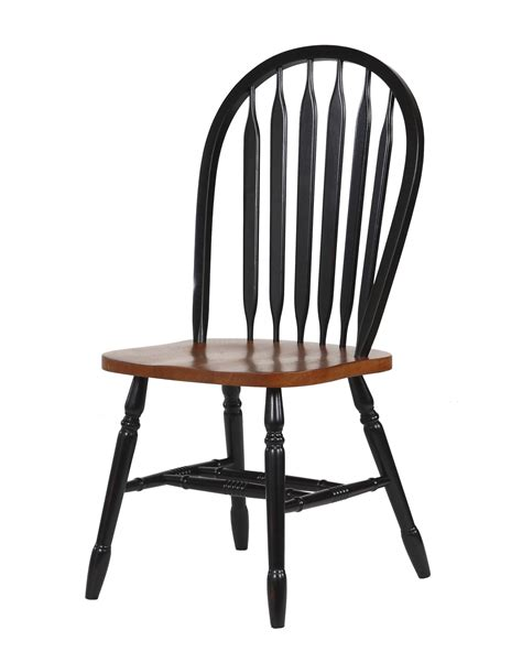 sunset trading  arrowback rta dining chair  antique