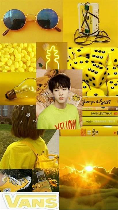 Aesthetic Yellow Bts Seokjin Kim Wallpapers Backgrounds