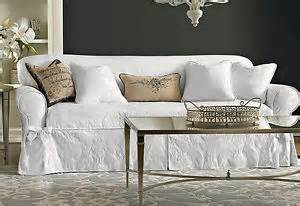 sure fit white matelasse damask one piece slipcovers sofa