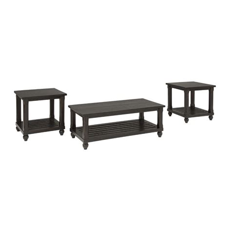 Browse our great prices & discounts on the best coffee table and end table set. Ashley Furniture Mallacar 3 Piece Coffee Table Set in ...