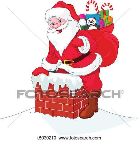 Clipart Babbo Natale Clipart Babbo Natale Descends Il Camino K5030210