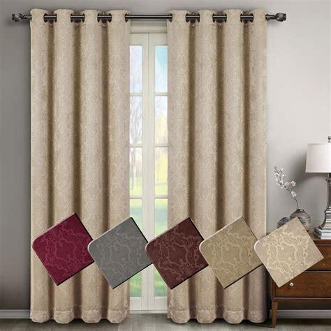 2 Grommet Curtains by Pair Set Of 2 Blackout Weave Embossed Grommet