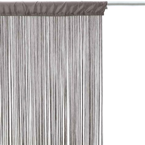 rideau fil 90x200cm gris