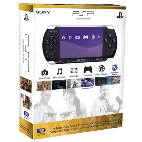 Sony Playstation Portable Psp 3000 Piano Blak Handheld