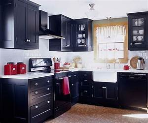 small black kitchen miraculous small modern black and With small dark kitchen design ideas