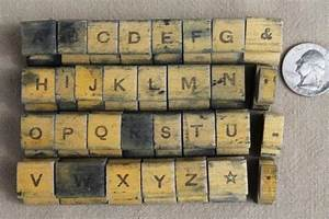 1940s or 50s vintage rubber stamp letters numbers fancy With rubber stamp letters and numbers