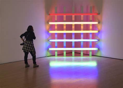 flavin fluorescent light sculpture artist