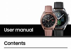 Pdf  Samsung Galaxy Watch 3 User Manual  U2013 Download