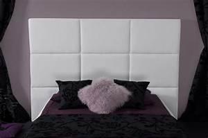Tete Lit Capitonnée : t te de lit capitonnee skin blanc ~ Premium-room.com Idées de Décoration