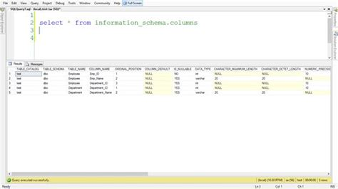 sql list all tables get the count or list of columns of a table in sql server