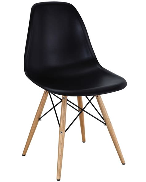 eames style molded plastic side chair available from