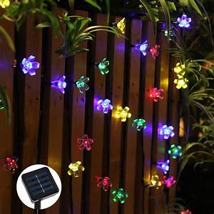 50 leds flower solar led string lights christmas party With katzennetz balkon mit led indoor garden lights