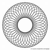 Circle Coloring Center Spiral Pages Circles Tessellations Clipart Inside Overlapping Pattern Geometric Etc Clip Exhibitricks Museum Larger Starburst Coming Adults sketch template